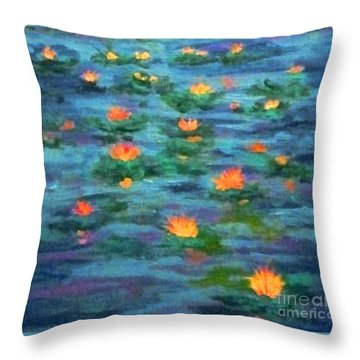 Floating Gems Throw Pillow