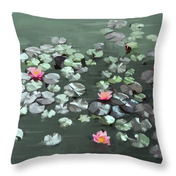 Throw Pillow featuring the digital art Floating by Gina Harrison