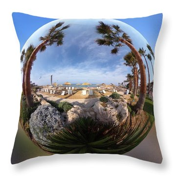 Floating Globe  Throw Pillow
