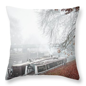 Floating Homes Of  River Cam Throw Pillow