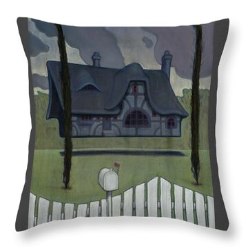 Floating House Throw Pillow