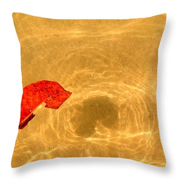 Floating In Gold Throw Pillow
