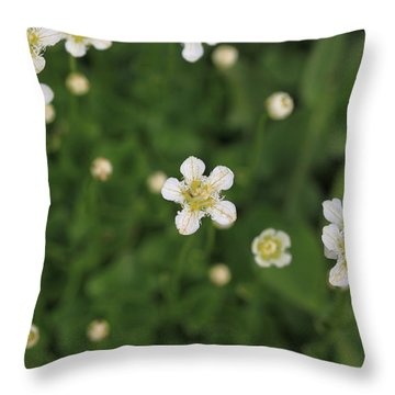 Throw Pillow featuring the photograph Floating In Green by Shari Jardina