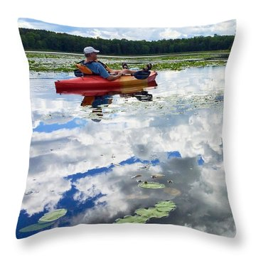 Floating In The Sky Throw Pillow
