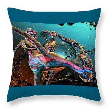 Floating In The Universe Throw Pillow