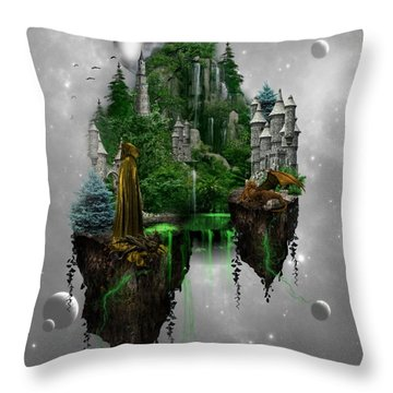 Floating Kingdom Throw Pillow by Ali Oppy