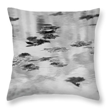 Floating Leaves 7 Throw Pillow