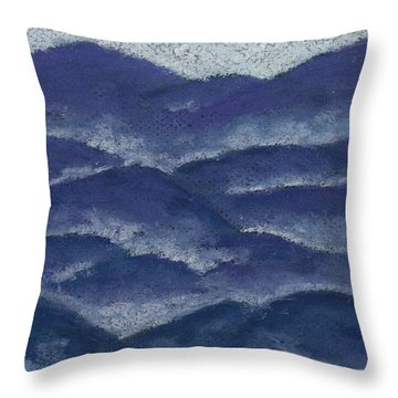 Floating Mist Throw Pillow