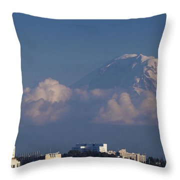 Floating Mountain Throw Pillow