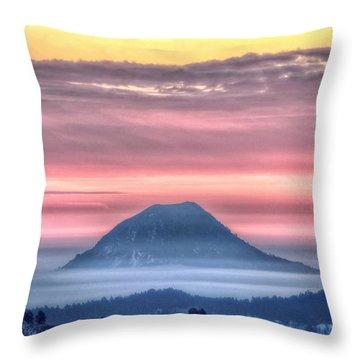 Floating Mountain Throw Pillow
