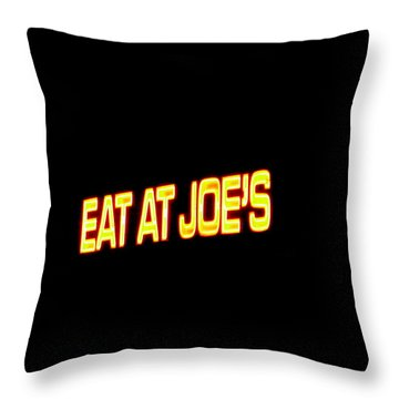 Floating Neon - Eat At Joes Throw Pillow