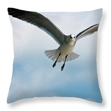 Floating On Air Throw Pillow by Christopher Holmes