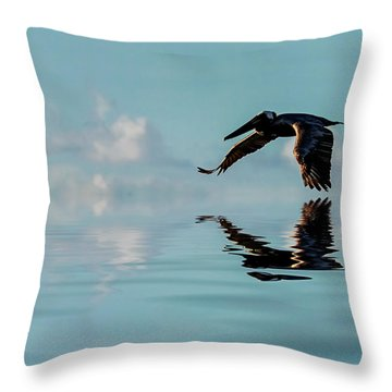 Floating On Air Throw Pillow by Cyndy Doty