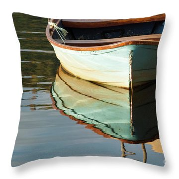 Throw Pillow featuring the photograph Floating On Blue 44 by Wendy Wilton
