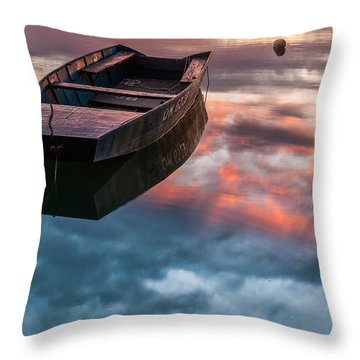 Throw Pillow featuring the photograph Floating On Mirror by Davorin Mance