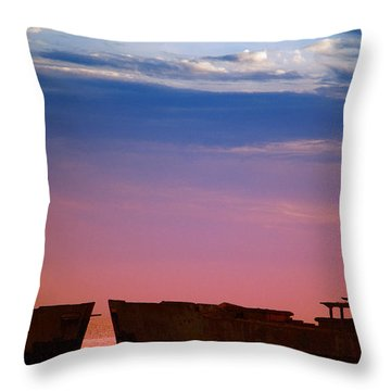 Floating On Orange Throw Pillow by Rebecca Davis