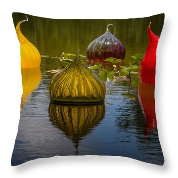 Floating Orbs Throw Pillow