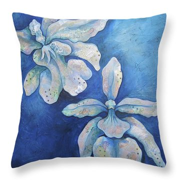 Floating Orchid Throw Pillow by Shadia Derbyshire