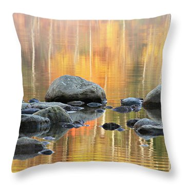 Floating Rocks Throw Pillow