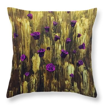 Floating Royal Roses 1 Throw Pillow