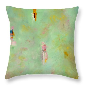 Floating Throw Pillow by Suzzanna Frank