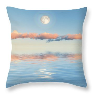 Floating Through Blue Throw Pillow by Jerry McElroy