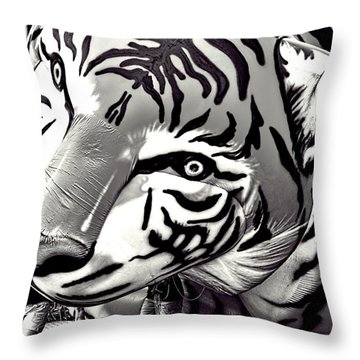 Floating Tiger Throw Pillow