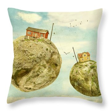 Floating Village Throw Pillow by Sonya Kanelstrand