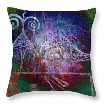 Flocking To Abstraction Throw Pillow by Misha Bean