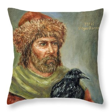 Floki Vilgerdarson Throw Pillow by Arturas Slapsys