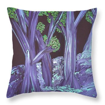 Flooded Forest Throw Pillow
