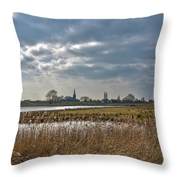 Floodplains Near Culemborg Throw Pillow