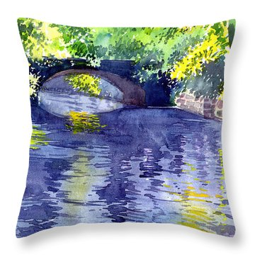 Throw Pillow featuring the painting Floods by Anil Nene