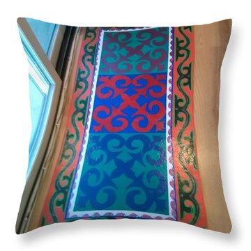 Floor Cloth Arabesque Throw Pillow