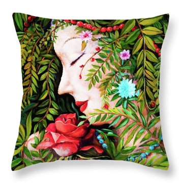 Flora-da-vita Throw Pillow