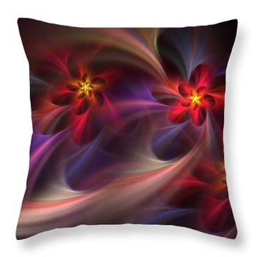 Flora Essence Throw Pillow