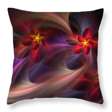 Flora Essence Throw Pillow
