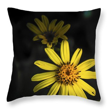 Flora In Yellow Throw Pillow