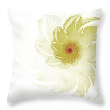 Throw Pillow featuring the digital art Flora by Richard Ortolano