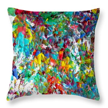 Floral Abstract 0715 Throw Pillow