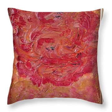 Floral Abstract 1 Throw Pillow