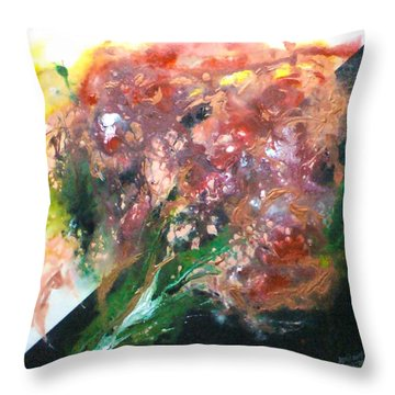 Floral Abstract Throw Pillow by Jan Wendt