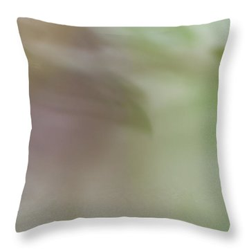 Throw Pillow featuring the photograph Floral Abstract by Roger Mullenhour