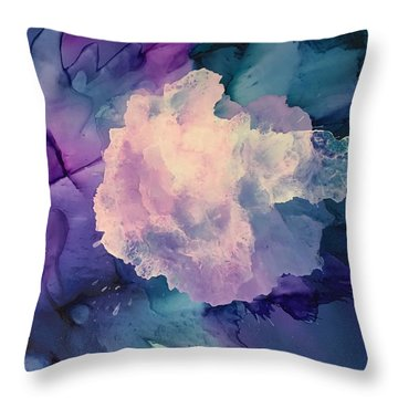Throw Pillow featuring the painting Floral Abstract by Suzanne Canner