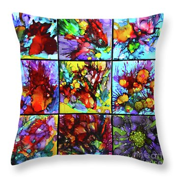 Floral Air Throw Pillow by Alene Sirott-Cope