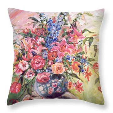 Floral Arrangement No. 2 Throw Pillow