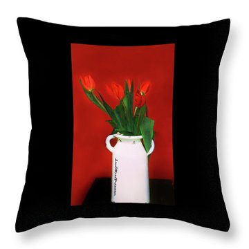 Floral Art 13 Throw Pillow