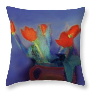 Floral Art 18 Throw Pillow
