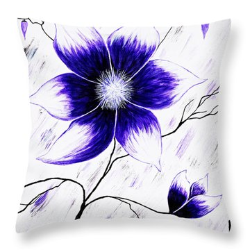 Floral Awakening Throw Pillow