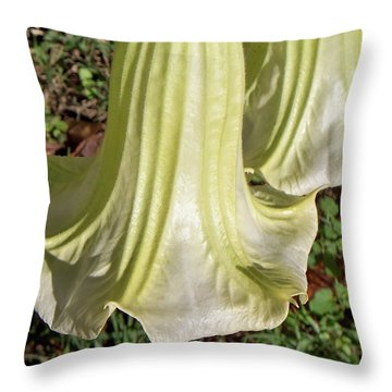 Throw Pillow featuring the photograph Floral Ballgown by Betty Northcutt